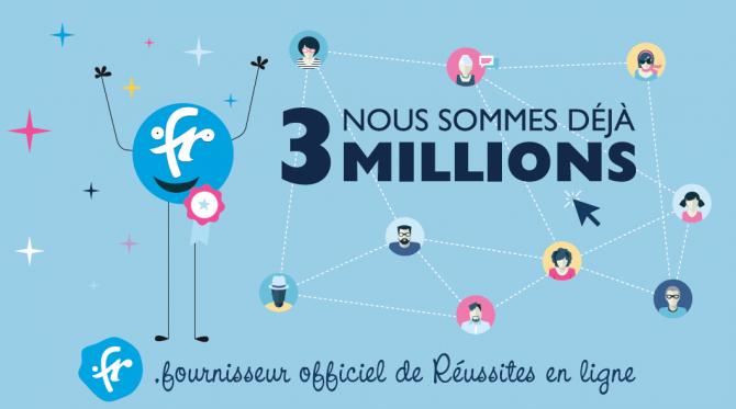К клубу национальных доменов-трехмиллионников присоединяется .fr