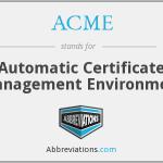 ACME  – новый стандарт для работы с SSL-сертификатами